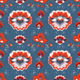 Floral seamless pattern in slavic style Stock Photo
