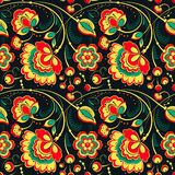 Floral seamless pattern in slavonic style Stock Photo