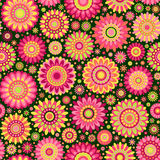 Floral seamless pattern. Spring pattern. Colorful floral background. Vector illustration Stock Image