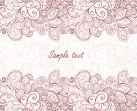 Floral seamless pattern stripe. Royalty Free Stock Image