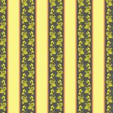 Floral seamless pattern with stripes Royalty Free Stock Photography