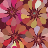 Floral seamless pattern with  stylish f Royalty Free Stock Photography