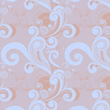 Floral seamless pattern with swirls Stock Image