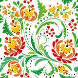 Floral seamless pattern with swirls Stock Photos