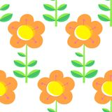 Floral seamless pattern with tranparency elements. Background wi Stock Photo