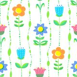Floral seamless pattern with tranparency elements. Background wi Stock Photography