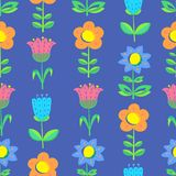 Floral seamless pattern with tranparency elements. Background wi Stock Image