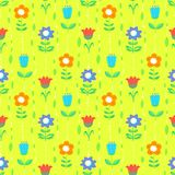 Floral seamless pattern with tranparency elements. Background wi Stock Images