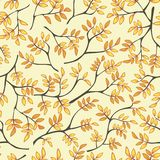 Floral seamless pattern with trees Royalty Free Stock Photo