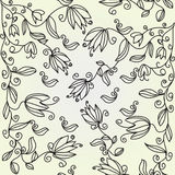 Floral seamless pattern with  tulips Royalty Free Stock Photography