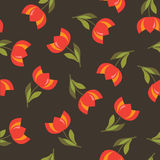 Floral seamless pattern with tulips. Floral seamless pattern with red tulips Stock Images