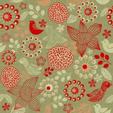 Floral seamless pattern in vector Stock Photos