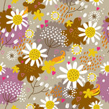 Floral seamless pattern in vector Royalty Free Stock Images