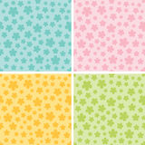 Floral seamless pattern. Vector background Stock Photo