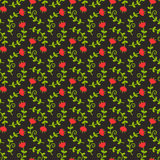 Floral seamless pattern. Vector background. Stock Photo