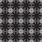 Floral seamless pattern vector background in black and white Stock Photography