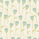 Floral seamless pattern. Vector seamless pattern of blue flowers Stock Image