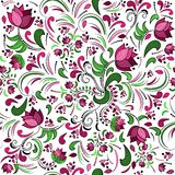 Floral seamless pattern, vector design Stock Photos