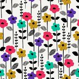 Floral abstract seamless pattern. Vector design for different surfases. Royalty Free Stock Photography