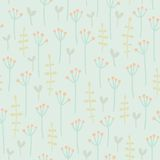 Floral seamless pattern. Vector EPS10 hand drawn floral seamless pattern Royalty Free Stock Photography
