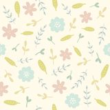 Floral seamless pattern. Vector EPS10 hand drawn floral seamless pattern Royalty Free Stock Photo