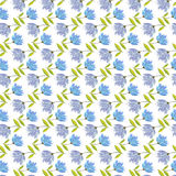 Floral seamless Pattern. Vector floral seamless pattern. Hand drawn flower design in blue color. Perfect for wallpaper, wrapping paper, textile, package design Stock Photography
