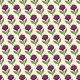 Floral seamless Pattern. Vector floral seamless pattern. Hand drawn flower design in lilac color. Perfect for wallpaper, wrapping paper, textile, package design Stock Image