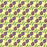Floral seamless pattern. Vector floral seamless pattern. Hand drawn flower design in lilac color. Perfect for wallpaper, wrapping paper, textile, package design Royalty Free Stock Images