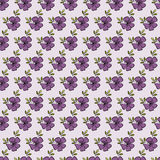 Floral seamless pattern. Vector floral seamless pattern. Hand drawn flower design in lilac color. Perfect for wallpaper, wrapping paper, textile, package design Royalty Free Stock Photo