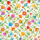 Floral seamless pattern vector. Illustration Royalty Free Stock Photography