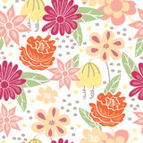 Floral seamless pattern. Vector illustration Stock Photos