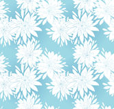 Floral seamless pattern. Vector illustration. Easily editable, objects in the center not cut, every flower and leaf is a separate group Royalty Free Stock Photo