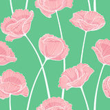 Floral seamless pattern. Vector seamless pattern made of stylized poppy flowers Royalty Free Stock Photography