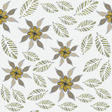 Floral seamless pattern in vintage colors, and sea Stock Image
