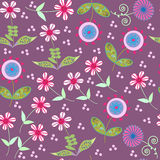 Floral vector  seamless pattern in vintage colors, Stock Photos