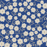 Floral vector seamless pattern in vintage colors,  Stock Image