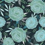 Floral seamless pattern for vintage design. Vector illustration. stock illustration