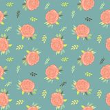 Floral seamless pattern for vintage design. Vector illustration. royalty free illustration