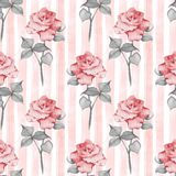 Floral seamless pattern. Vintage flowers stock illustration