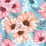 Floral seamless pattern 12. Floral seamless pattern. Watercolor flowers Royalty Free Stock Photo