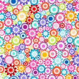 Floral seamless pattern on white background Stock Photography