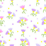 Floral seamless pattern on a white background. Pink flowers. EPS10 Royalty Free Stock Images