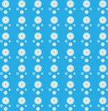 Floral Seamless Pattern of White Daisies in Blue Background vector illustration
