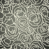 Floral Seamless Pattern With Hand Drawn Roses Royalty Free Stock Images
