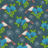 Floral seamless pattern (wrapping paper) Royalty Free Stock Photos