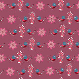 Floral seamless pattern (wrapping paper) Royalty Free Stock Images