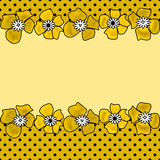 Floral seamless pattern with yellow kids flowers background Royalty Free Stock Images