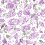 Floral seamless pattern for your design Stock Photography