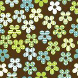 Floral seamless with patterned flowers Stock Photography