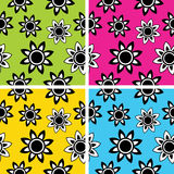Floral seamless patterns Royalty Free Stock Photography